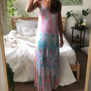 Boho vacation Tie-dye dress